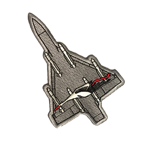 Patch Mirage 2000 gris SPA 26 - 7 euros