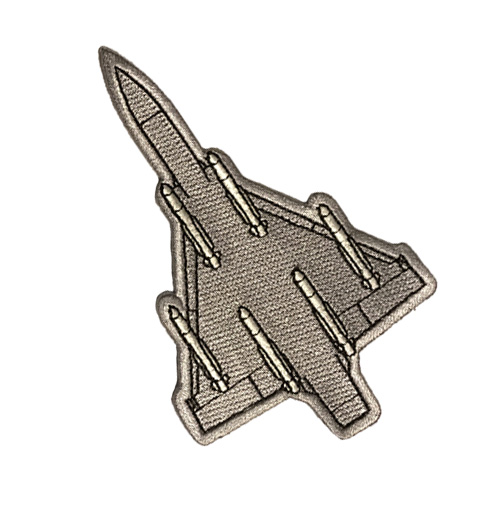 Patch Mirage 2000 gris - 7 euros