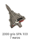 Patch Mirage 2000 gris SPA 103 - 7 euros