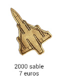 Patch Mirage 2000 sable - 7 euros