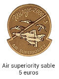 Patch Air Superiority sable - 7 euros