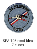 Patch rond SPA 103 bleu - 7 euros
