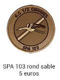 Patch rond SPA 103 sable - 7 euros