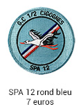 Patch rond SPA 12 bleu - 7 euros