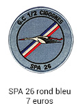 Patch rond SPA 26 bleu - 7 euros