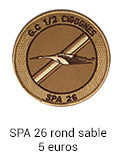 Patch rond SPA 26 sable - 7 euros