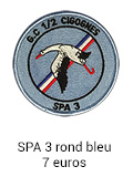 Patch rond SPA 3 bleu - 7 euros