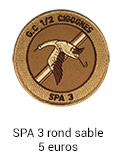 Patch rond SPA 3 sable - 7 euros